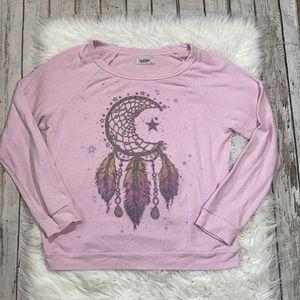 Lauren Moshi Brenna Dream Catcher Pink Pullover S